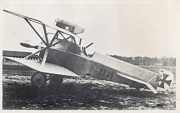 Photograph of Austrian Brandenburg D.I, number 28.26 in profile. According to Meindl & Schroeder, p. 31, this was delivered January 20, 1917. It was badly damaged on January 11, 1918, and its pilot, Raoul Stojsavljevic, severely wounded by phosphorus bullets.