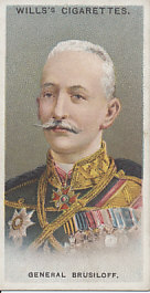 Cigarette card of General Aleksei Brusilov (Brusiloff).