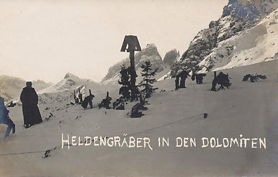 Austro-Hungarian graves in the Dolomite Mountains.