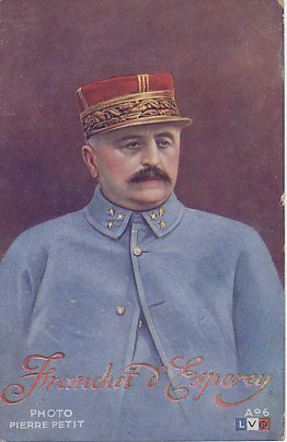 Postcard of French General Franchet d'Esperey photographed by Pierre Petit.
