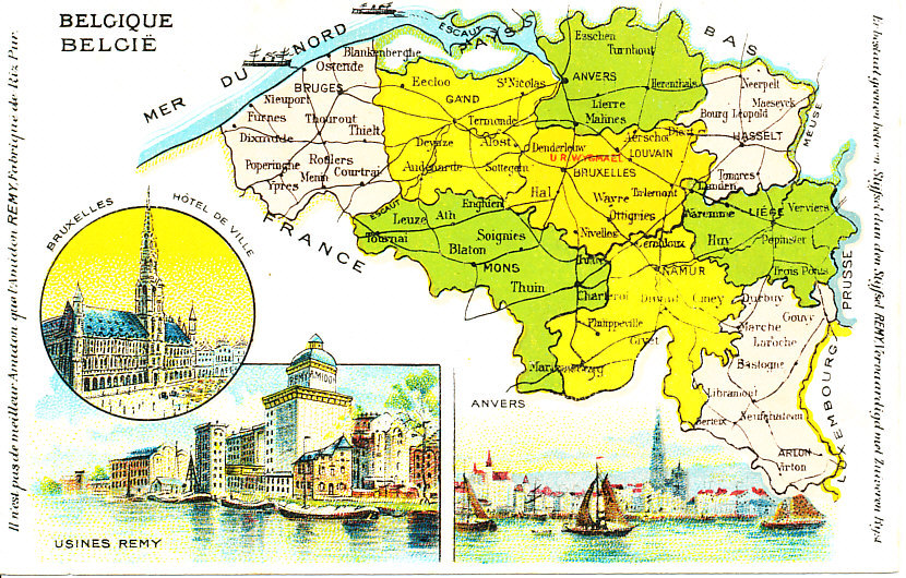 Belgium – Map of Belgium with Cities