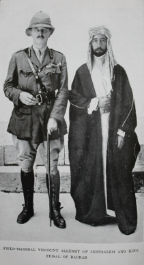 Field Marshall Viscount Allenby of Jerusalem with King Feisal of Baghdad, from With Lawrence in Arabia by Lowell Thomas
