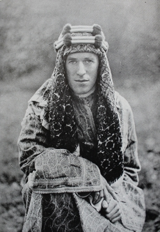 Colonel T.E. Lawrence, Lawrence of Arabia, from With Lawrence in Arabia by Lowell Thomas