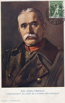 French portrait postcard of Sir John French in Uniform, Commander in Chief of the British Army in France at the beginning of the war.