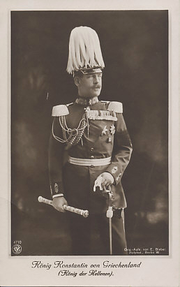 King Constantine of Greece in military uniform.