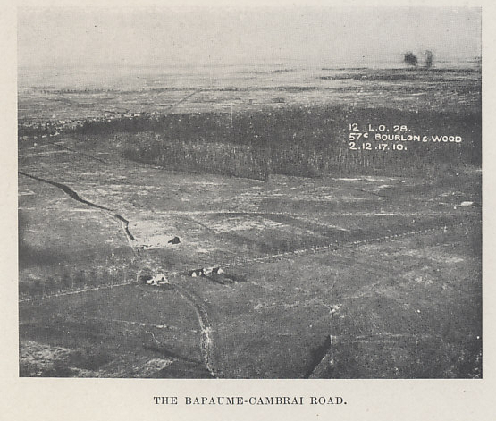 Bourlon and Bourlon Wood. From 'The Tank Corps' by Major Clough Williams-Ellis & A. Williams-Ellis
