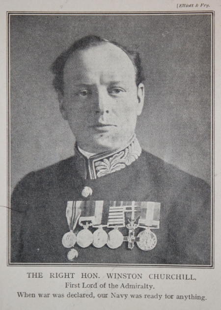 Winston Churchill, First Lord of the Admiralty, from the magazine The Great War, Part 1.
