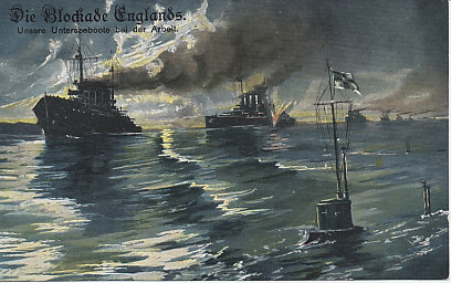 Great Britain declared the entire North Sea a military zone as of November 5, 1914, imposing a blockade of Germany with nets, mines, and ships from Scotland across the northern end of the North Sea, and at the mouth of the English Channel. Germany's response depended on its submarine fleet.