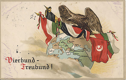 With Bulgaria joining the Central Powers in October 1915 assuring the defeat of Serbia by the end of November, the Balkanzug — the Balkan Railway, shown in red — connected Berlin and Constantinople. By the second week of November, Turkey received ammunition and weapons from its allies.