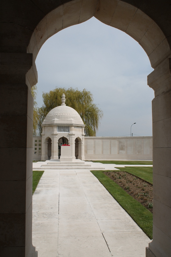 Detail from the Indian Memorial at Neuve Chapelle: interior.