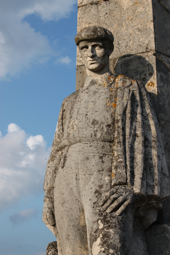 Detail from the Basque Memorial, Chemin des Dames, Craonnelle, France.