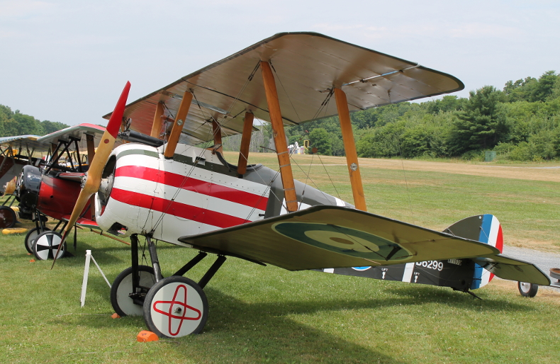 Reproduction Sopwith Camel from Old Rhinebeck Aerodrome in Rhinebeck, New York.