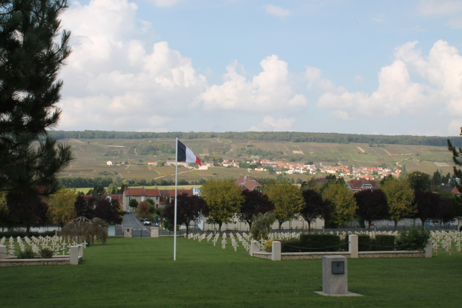 Dormans, France. View from the cemetary facing the Marne River.