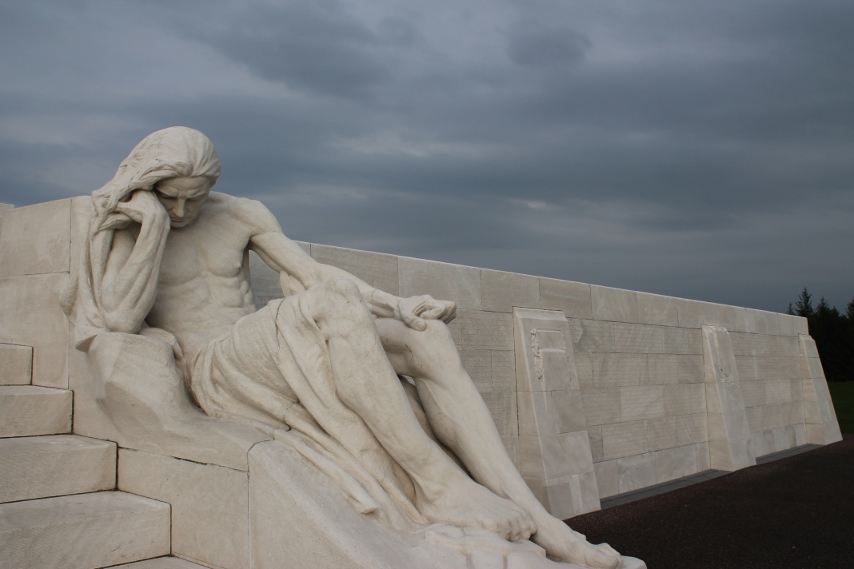Canadian Memorial at Vimy Ridge, detail.