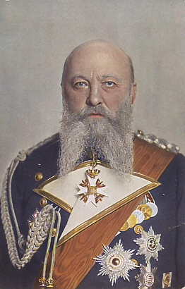 Portrait postcard of Admiral of the Fleet Alfred Peter Friedrich von Tirpitz.