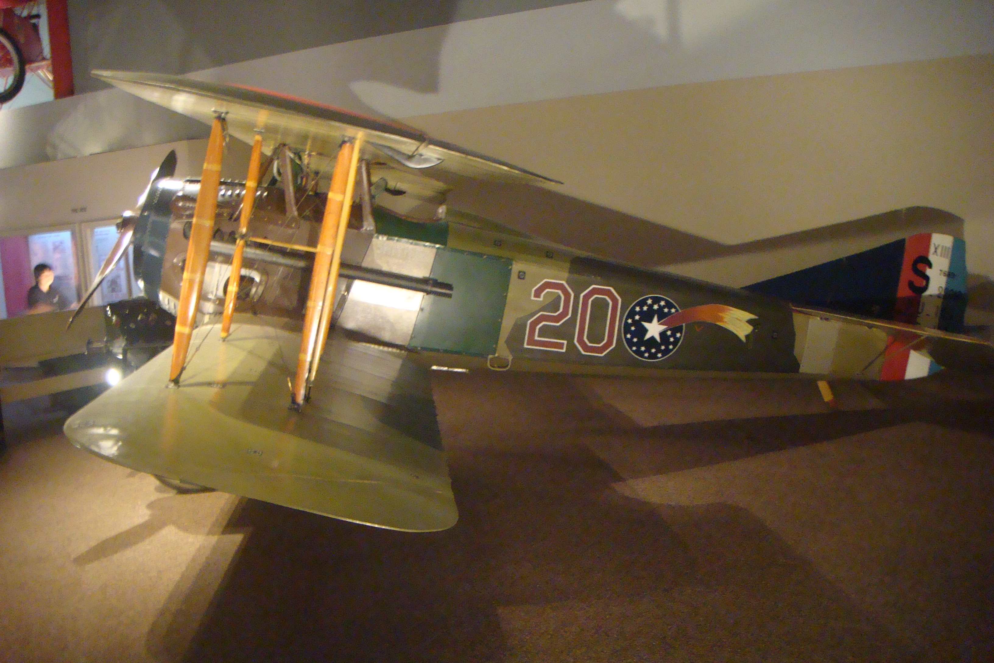 Profile of the Spad XIII in the collection of the National Air and Space Museum, Washington, D.C.
